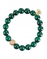 Soul Journey Malachite Beaded Stretch Bracelet Green