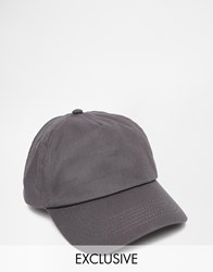 Reclaimed Vintage Baseball Cap In Grey Grey