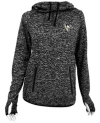 Antigua Women's Pittsburgh Penguins Recruit Pullover Hoodie Black