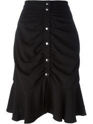 J.W.Anderson J.W. Anderson Ruffled Hem Draped Skirt Black