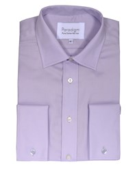 Double Two Men's Non Iron Micro Twill Shirt Lilac