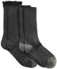 Gold Toe Women's Marled Lace Boot Socks 2 Pack Black