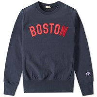 Champion Reverse Weave Usa Crew Sweat Blue