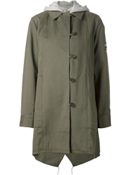 Thakoon Addition Hooded Military Parka Green