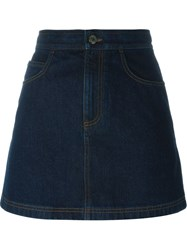 Givenchy Denim Mini Skirt Blue
