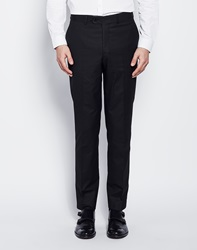 The Idle Man Suit Trousers In Skinny Fit Black