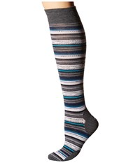 Smartwool Margarita Knee Highs Medium Gray Heather Women's Knee High Socks Shoes