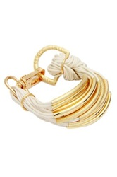 Saachi White Multi Bar String Bracelet