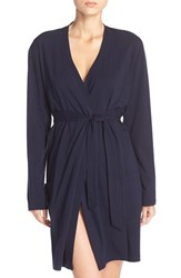 Naked Women's Stretch Cotton Robe Peacoat