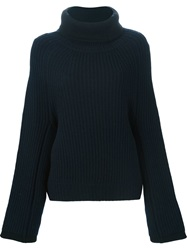 Toga Pulla Oversized Roll Neck Sweater Blue