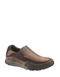 Merrell Mountain Leather Moccasin Shoes Brown