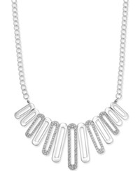 Alfani Pave Loop Statement Necklace Only At Macy's Silver