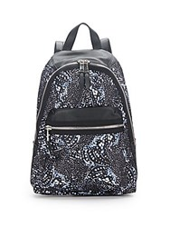 French Connection Piper Printed Backpack Tiger Shark
