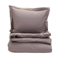 Gant Solid Sateen Duvet Cover Mole Grey Double 200 X 200 Cm