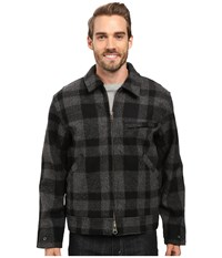 Filson Mackinaw Work Jacket Gray Black Men's Coat