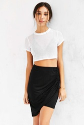 Truly Madly Deeply Twist Front Midi Skirt Black