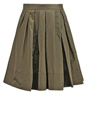 Banana Republic Taffeta Pleated Skirt Exploration Green