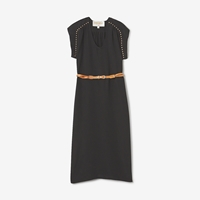 Lauren Moffatt Lippi Belted Shift Dress Black