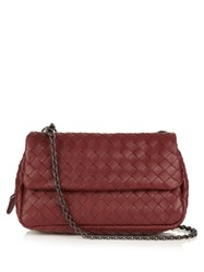Bottega Veneta Intrecciato Leather Shoulder Bag Burgundy