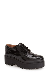 Jeffrey Campbell 'Rudeness' Platform Oxford Women Black Box Black
