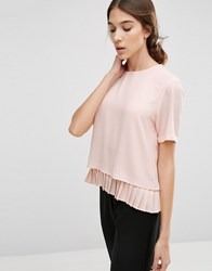 Y.A.S Special Top With Pleated Hem Mahogany Rose Pink