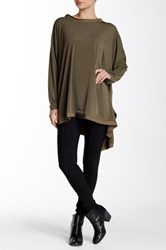 Planet Long Sleeve Flounce Tunic Green