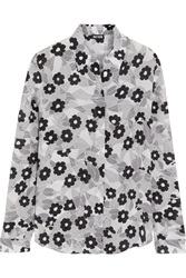 Holly Fulton Floral Print Silk Crepe De Chine Shirt