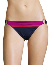 Tommy Bahama Novelty Solids Colorblock Low Rise Bikini Bottom Blue