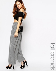 Glamorous Tall Striped Wide Leg Culottes Multi