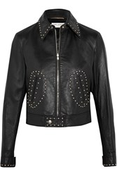 Saint Laurent Studded Leather Biker Jacket Black