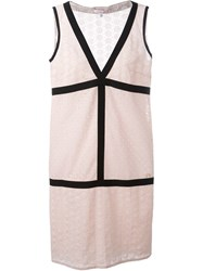 Borbonese V Neck Dress Pink And Purple