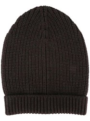 Dolce And Gabbana Ribbed Beanie Red