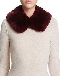 Surell Rabbit Fur Collar Wine