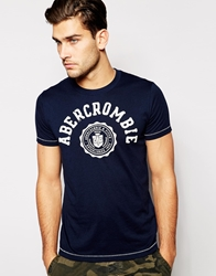 Abercrombie And Fitch T Shirt With Logo Print Navy