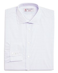 Turnbull And Asser Check Slim Fit Dress Shirt 100 Bloomingdale's Collection Blue Lilac White