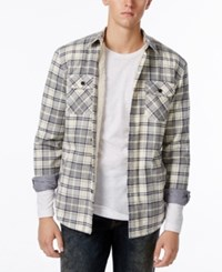American Rag Men's Lined Plaid Jacket Only At Macy's Pale Waters