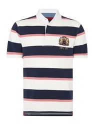 Howick Malden Stripe Short Sleeve Rugby Shirt Off White