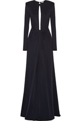 Issa Merylin Cutout Stretch Jersey Gown Navy