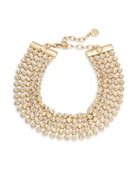 Rj Graziano Five Row Stone Accented Necklace Gold