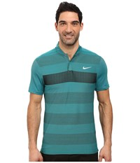 Nike Momentum Fly Swing Knit Stripe Alpha Rio Teal Reflect Black Men's Short Sleeve Pullover Green