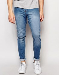 Pull And Bear Super Skinny Jeans In Light Wash Blue Light Blue