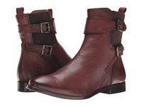 Frye Anna Gore Short Chocolate Buffalo Leather Cowboy Boots Brown