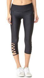 Onzie Weave Capri Leggings Black