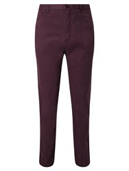 John Lewis And Co. Dylan Cotton Chinos Oxblood