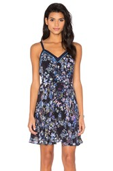 Greylin Magnolia Silk Dress Navy