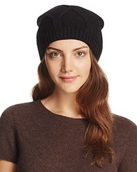 Bettina Slouchy Knit Beanie Black