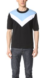 Fred Perry By Raf Simons Chevron Insert Tee Black