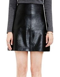 Vince Camuto Solid A Line Pleather Skirt Rich Black