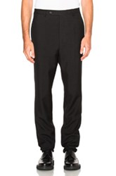 Lanvin Low Crotch Trousers In Black
