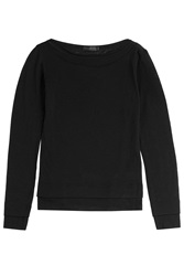 Donna Karan New York Long Sleeve Wool Top Black